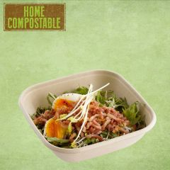 "Sabert Home Compostable BePulp Square Bowl 6.7x6.7x2"" / 17x17x5cm, 750ml"