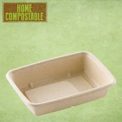 "Sabert Home Compostable BePulp Rectangular Container 6.3x9x2"" / 16x23x5cm, 950ml"