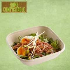 "Sabert Home Compostable BePulp Square Bowl 6.7x6.7x2.8"" / 17x17x7cm, 1000ml"