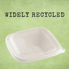 Sabert Recyclable Clear Lid for 750 & 1000ml BePulp Square Bowl