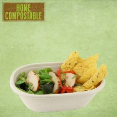 Sabert Home Compostable BePulp Oval Eco Street Bowl 770ml 19x15x6cm