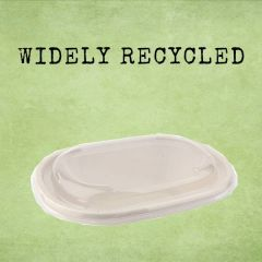 Sabert Recyclable Lid For 770ml BePulp Oval Eco Street Bowl