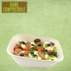 "Sabert Home Compostable BePulp Square Sloped Bowl 7.5x7.5x2.8"" / 19x19x7cm, 750ml"