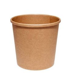 Disposable Kraft Heavy Duty Soup / Food Container 16oz / 45cl