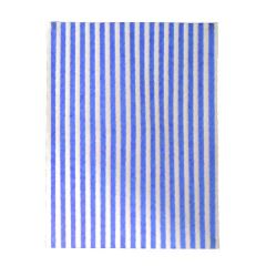 "Blue Printed Burger Wrap Paper 12.5x10"" / 32x25cm"