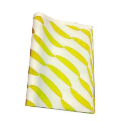 "Yellow Printed Burger Wrap Paper 10x12.5"" / 25x32cm"