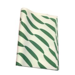 "Green Printed Burger Wrap Paper 12.5x10"" / 32x25cm"