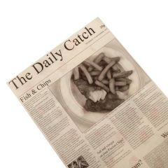 "The Daily Catch Large Greaseproof Newspaper Sheets 16x10"" / 40x25cm"