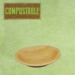 "Palm Leaf Compostable Round Bowl 7"" / 18cm"
