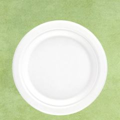 "Bagasse Eco-Friendly Round Plate 9"" / 23cm"