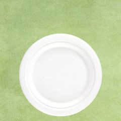 "Bagasse Eco-Friendly Round Plate 7"" / 18cm"