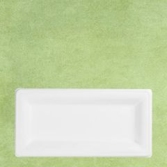 "Bagasse Eco-Friendly Rectangular Plate 10x5"" / 12x24cm"