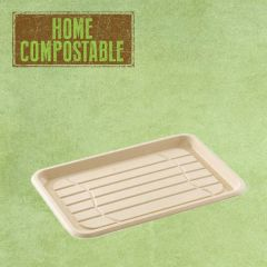 Sabert Home Compostable BePulp Rectangular Platter Base 35x24cm