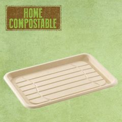Sabert Home Compostable BePulp Rectangular Platter Base 46x30cm
