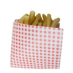 Red Gingham Open 2 Sided Greaseproof Bag 17x17cm