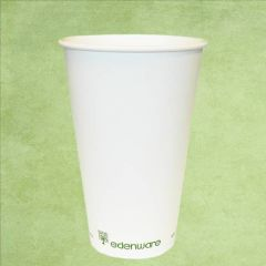 Single Wall PLA Lined Plain White Hot Drinks Cup 16oz / 45cl