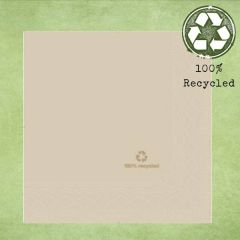 Tork Natural '100% Recycled' Lunch Napkin 2ply 33cm