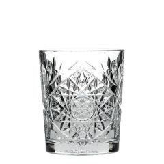 Hobstar Cut Glass Double Old Fashioned Tumbler 12.25oz / 35cl