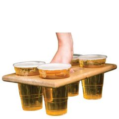Wooden Four Pint Beer Carrier