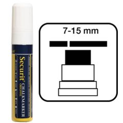 Securit Large White Water Soluble Chalk Marker 7-15mm Nib