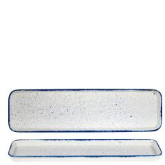 "Churchill Stonecast Hints Indigo Blue 2/4 Flat Tray 21x6x1"" / 53x15x2.5cm"