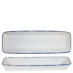 "Churchill Stonecast Hints Indigo Blue Rectangular Baking Dish 21x6.5x2.5"" / 53x16x6.2cm"