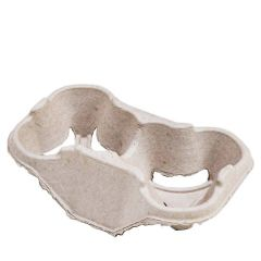Huhtamaki Strongholder Moulded Fibreboard 2 Cup Carry Tray