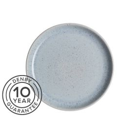 "Denby Studio Blue Pebble Medium Coupe Plate 8.25"" / 21cm"