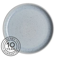 "Denby Studio Blue Pebble Coupe Dinner Plate 10.25"" / 26cm"