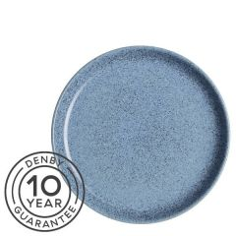 "Denby Studio Blue Flint Medium Coupe Plate 8.25"" / 21cm"