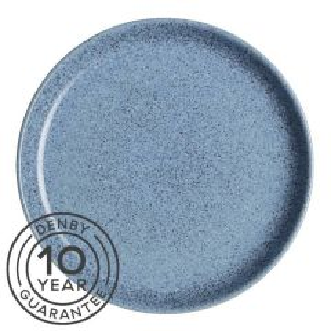 "Denby Studio Blue Flint Coupe Dinner Plate 10.25"" / 26cm"