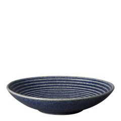 "Denby Studio Blue Cobalt Medium Ridged Bowl 10"" / 25.5cm"