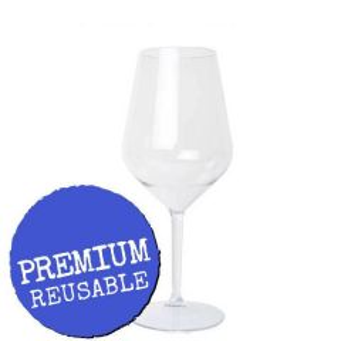 Tritan Co-polyester Plastic Angled Wine Goblet 16.5oz / 47cl