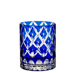 Balmoral Sapphire Overlayed Double Old Fashioned Glass 13.5oz / 38cl