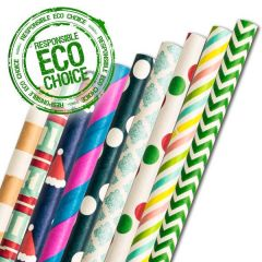 "'Lucky Dip' Fun Paper Straws 6mm Bore 8"" / 20cm"