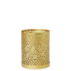 Duni Bliss Gold Metal Tealight / LED Candle Holder 10x8cm