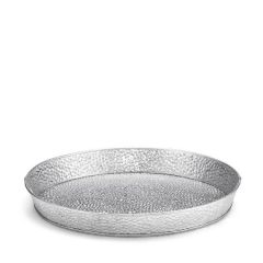 "Galvanised Steel Round Dinner Platter 10.5"" / 27cm"