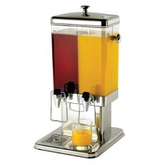 Stainless Steel Integrated Double Juice Dispenser 2 x 1.5 Gallons