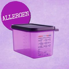 Araven Purple Allergen 1/2 Gastronorm Container with Airtight Lid 10L 150mm Deep