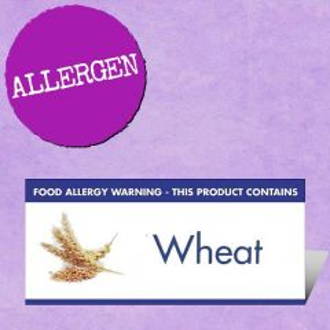 Food Allergen Buffet Notice Wheat Warning 45x100mm