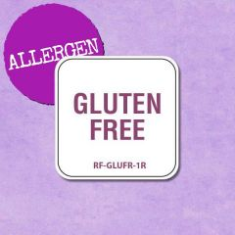 """Removable Allergen Gluten Free Labels 1"""" / 2.5cm"""
