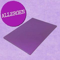 "Purple Allergen Standard Density Chopping Board 18x12x0.5"" / 46x30x1.3cm"