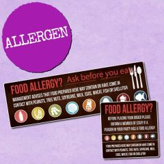 Self Adhesive Food Allergy Sticker Pack