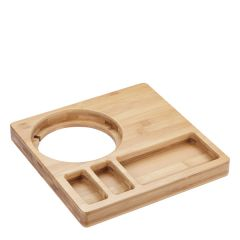 Tongwell Bamboo Welcome Tray in Natural Finish 26x26x3cm