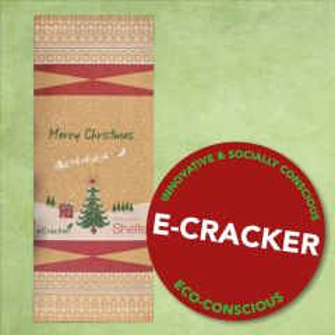 Duni Spirit of Christmas eCracker with Sealable Cutlery Pocket
