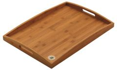 """Bamboo Wood Finish, Handled Butlers Tray 26x18"""" / 66x45cm"""
