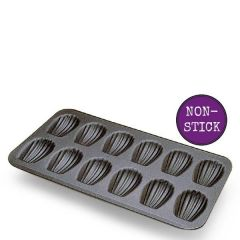 Non-Stick 40x20cm 12 Mould Madeleine Tray 75x52x15mm