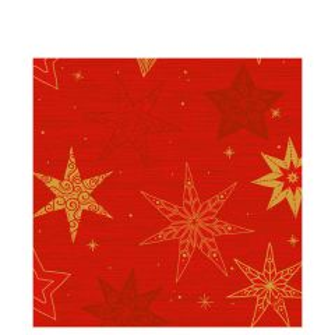 Duni Christmas Star Stories Red Tissue Napkin 3 Ply 40x40cm