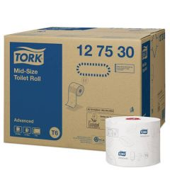 Tork Twin Mid-Size Toilet Roll T6 2 Ply 100m