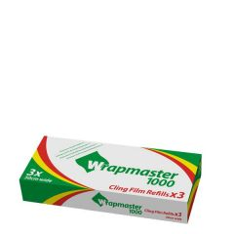 "Wrapmaster 1000 Clingfilm Refill Roll 12"" / 30cm x 100m"